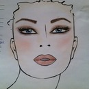 sexy smokey look face chart