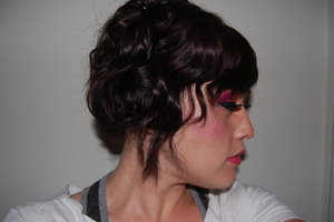 Another side view of a short updo