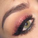 Holiday Christmas gold rose makeup