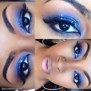 Check out the tutorial for this starry sky  makeup look at www.youtube.com/beautysosweet08   Be sure to follow me on Instagram @muashaleena :)
