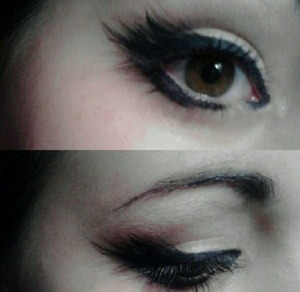 Really easy!! Use liquid liner to create a 'false lash' look. It's fun and beautiful!