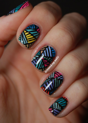 Inspired by a painting that is linked on the blog post!  http://www.dressedupnails.com/2013/01/the-digit-al-dozen-does-art-day-5-push.html