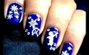 Easy Sticker Snowflake - Beginners Cute Nail Designs With Polish Easy Nail Art Design Tutorial