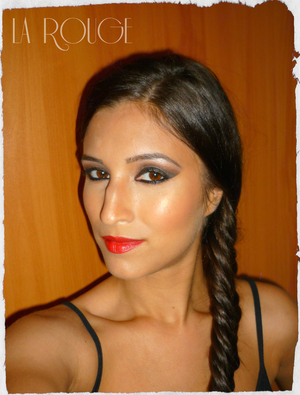 Smokey Eye Look with a touch of red