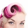 Pink swirl hair