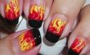 Nail Art - Flames - Llamas