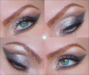 Bright up your Valentine's day with a soft glittery make up. In my blog you'll find the tutorial on how to achieve this look and the complete product list:  http://mariabergmark.wordpress.com/