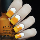 Candy Corn Gradient Nails