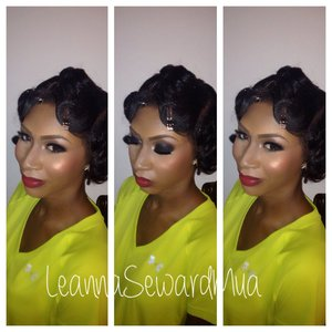 Loved doing this 20's style makeup on my client!!