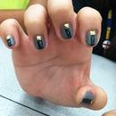 Stud matte nails
