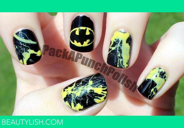 Batman nails samantha ss packapunchpolish photo beautylish prinsesfo Image collections
