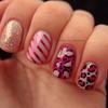 Pink Skittle Manicure