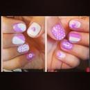 purple an white
