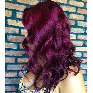 How to get this wine plum hair color? | Beautylish