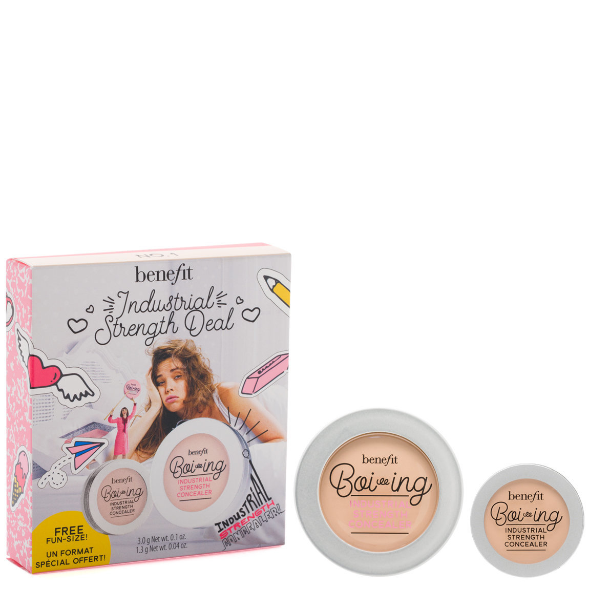 Benefit Cosmetics Industrial Strength Deal Concealer Set Shade 01