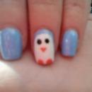 Winter Penguin Nails