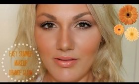 Tutorial: Easy Summer Makeup - Orange Glow