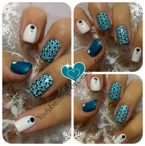 Winter Dotticure Nail Art | New Year's Nails. #mydesigns4you #nailart #nails #dotticure #winternails #winter #manicure