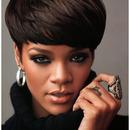Music Artist Rihanna with 'Love' on her finger