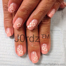 Flower sticker natural nails
