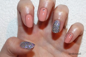 """Products I used: """"Moulin Rouge Light"""" (Nr. 050) by Catrice """"Hello Holo"""" (Nr. 03) by Essence Base and top coat"""