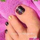 Festive Toe Nail Art | Christmas, New Year's Nails