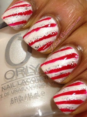 This week's submission for Nail Polish Canada's Holiday Nail Art Challenge!  I'd love your vote! http://www.polish-obsession.com/2013/12/nail-polish-canada-holiday-nail-art_10.html