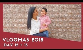 VLOGMAS DAY 12&13: MOM LIFE, CHRISTMAS PICTURES, VISITING SANTA | ADRIANA LATELY