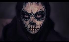 Creepy Skull Makeup / For Halloween