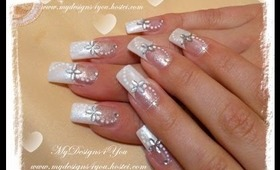 Easy DIY Bridal, Wedding Nail Art Design Tutorial - ♥ MyDesigns4You ♥