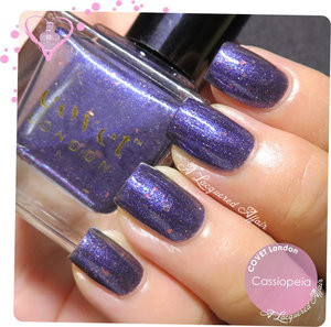 Swatch os COVET London Cassiopeia.  More swatches and review on the blog: http://www.alacqueredaffair.com/Covet-London-Captain-Cassiopeia-NCLA-Shimmer-Me-Pretty-34738621