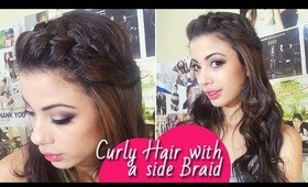 Side Braid with Soft Curls | Braided Hairstyle | Bohemian Hairstyle