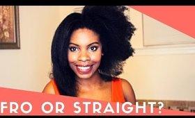 Straightening Brush Results-Natural Hair