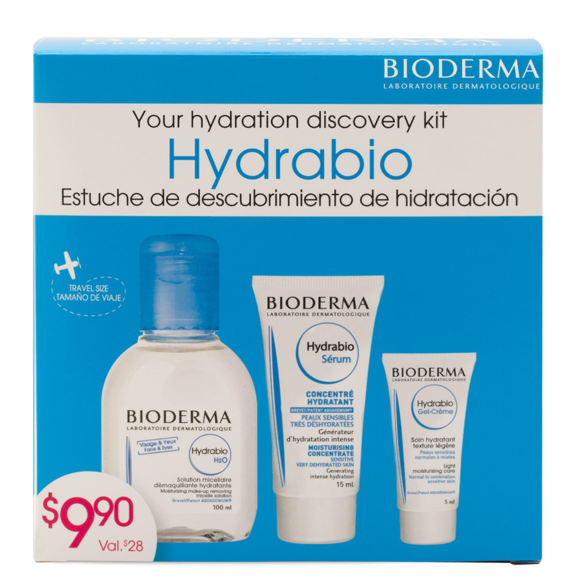 Bioderma The Discovery Set: Hydrabio product swatch.