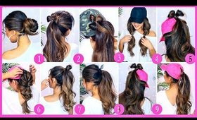 🍋10 EMERGENCY HAIRSTYLES for LAZY GIRLS 🍋 EASY Updos for Workout School Work