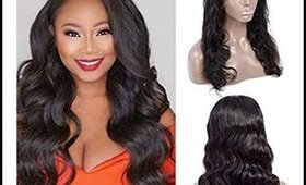 Brazilian Body Wave 18 inch Lace Front Wigs 13×4 Human Hair