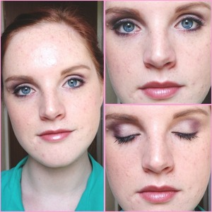 This is the final look from my makeover at the Urban Decay counter, using the Glinda palette