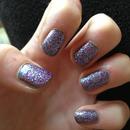 glitter nails multicolour