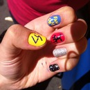 Cobra Starship nail art