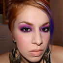 Smokey purple and pink look
