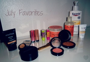 Check out my July faves for complete list of products, or want a review comment on   ---->>>  http://makeupbycarissas.blogspot.com/p/monthly-favorites.html