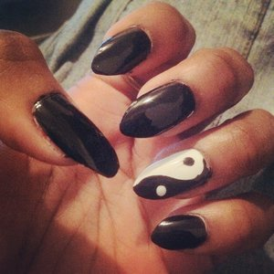 First time doing stiletto nails