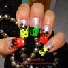 Halloween Nails-How to paint a cat