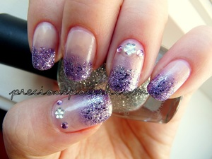 My prom nails! For the 'lace', check out my blog! (ie. my prom dress)