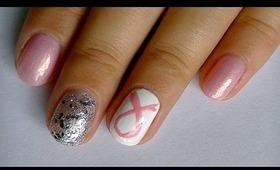 Breast Cancer Awareness Nail Art Design