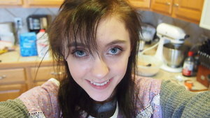 This is the makeup I wore for Christmas Eve and I dyed my hair black!