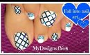 Glitter Fishnet Toenail Art ♥