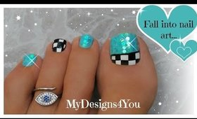 Fun Checkered Toe Nail Art Tutorial  ♥