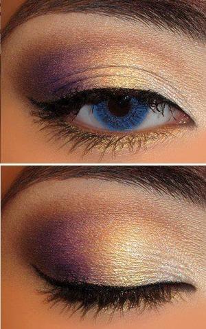 Gold an purple