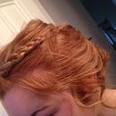 braided curled bun